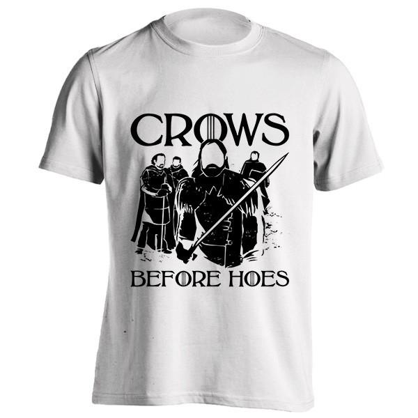 تیشرت طرح Crows Before Hoes