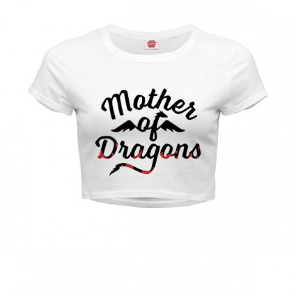 تیشرت کراپ دخترانه طرح Mother Of Dragons