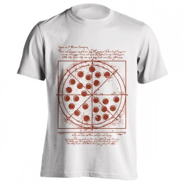 تیشرت طرح Vitruvian Pizza