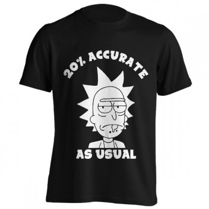 تیشرت طرح Rick and Morty - 20% Accurate as usual