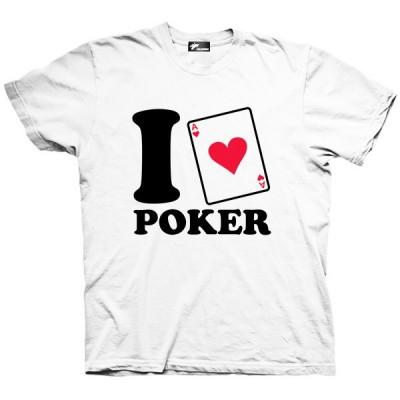 تیشرت گرافیکی طرح I love Poker
