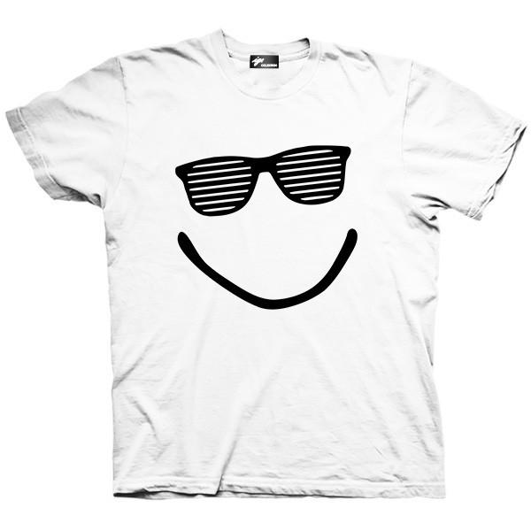 تیشرت گرافیکی طرح Smile Sunglasses