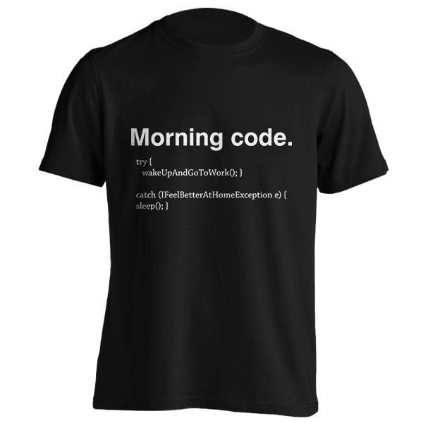 تیشرت برنامه نویسی Morning Code
