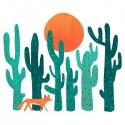 تیشرت آستین بلند رگلان Fox in cactus forest
