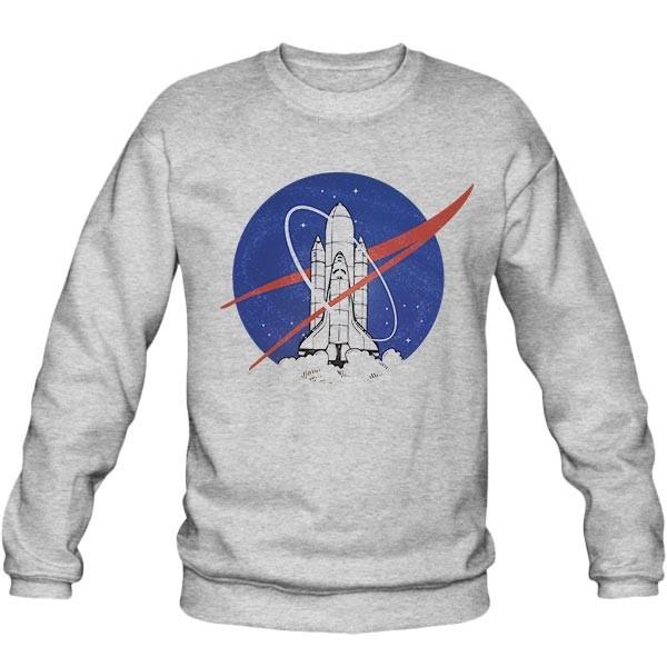 سویشرت ملانژ طرح NASA uprocket