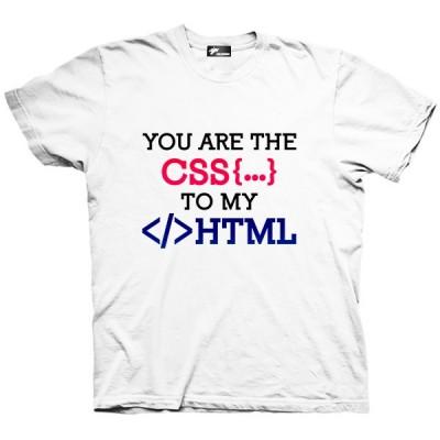 تیشرت برنامه نویس طرح You Are The Css