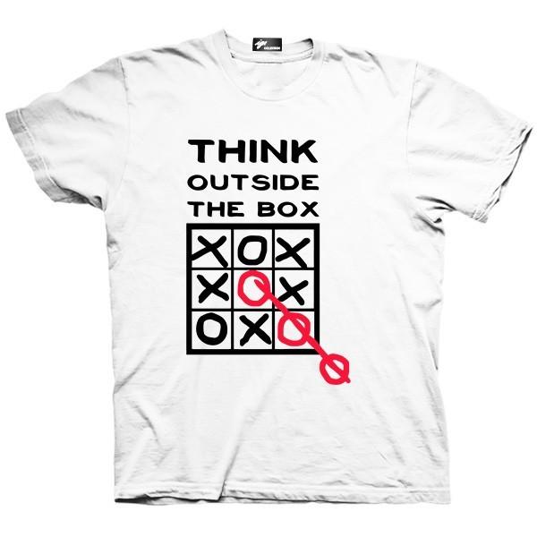 تیشرت گرافیکی طرح Think outside the box
