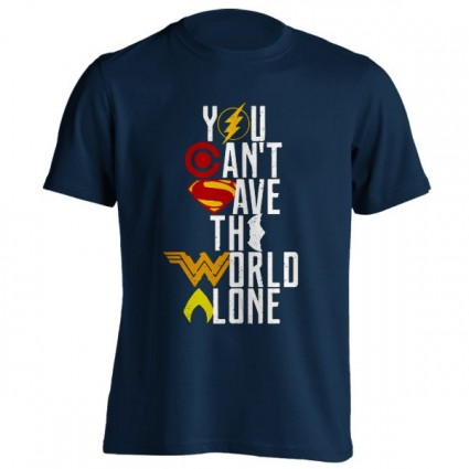 تیشرت you can't save the world alone