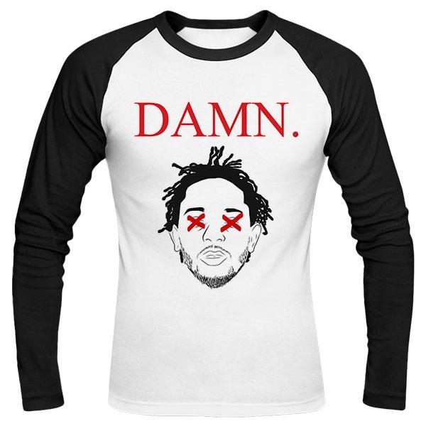 تیشرت آستین بلند رگلان Kendrick Lamar - DAMN