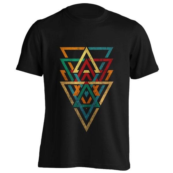 تیشرت triangles geometric grunge color