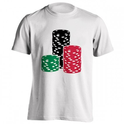 تیشرت Poker Roulette chips gambling