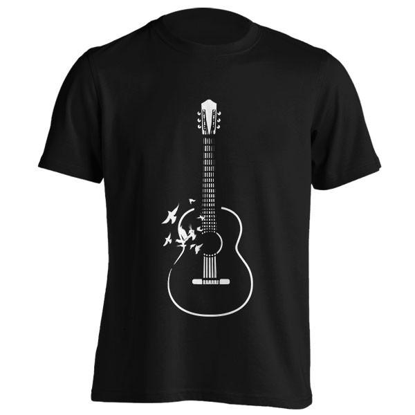 تیشرت Guitar and flying birds