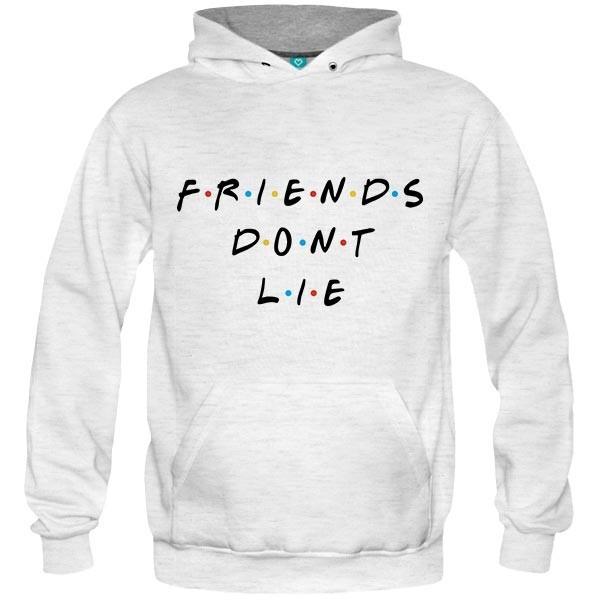 سویشرت هودی ملانژ Friends dont lie