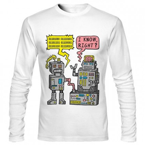 تیشرت آستین بلند Robot Talk
