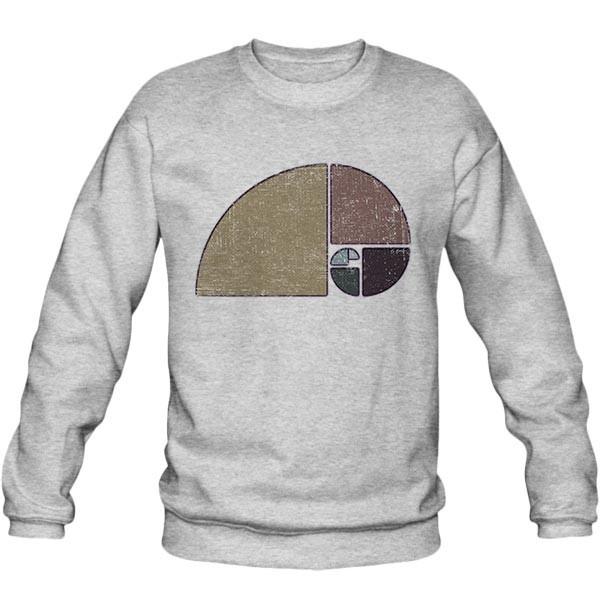 سویشرت ملانژ Geometric Fibonacci Spiral
