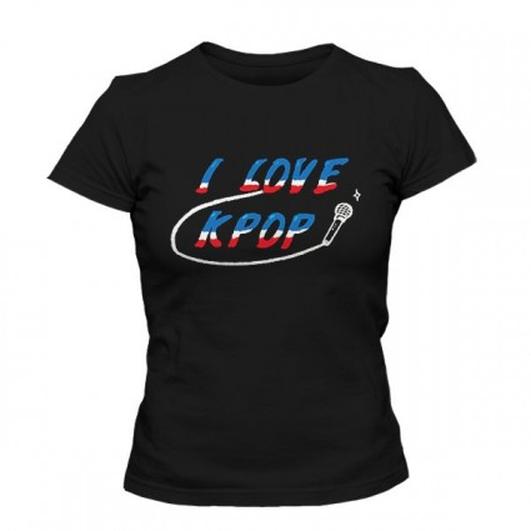 تیشرت دخترانه I LOVE KPOP