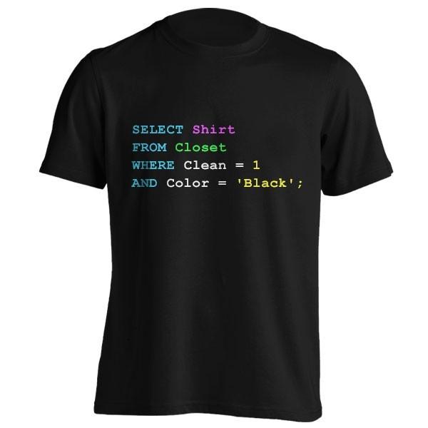 تیشرت Funny SQL design