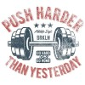 سویشرت هودی ملانژ Push Harder than Yesterday