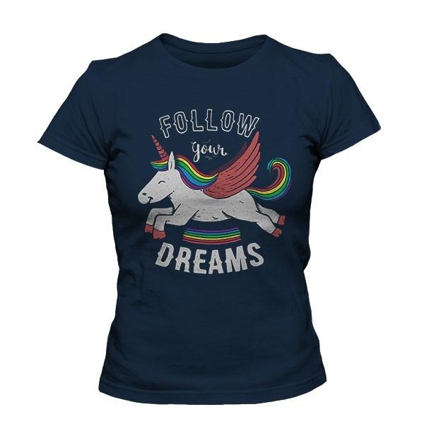 تیشرت دخترانه Follow your dreams