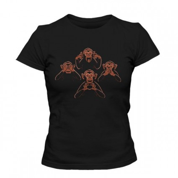 تیشرت دخترانه Three wise monkey and one lover