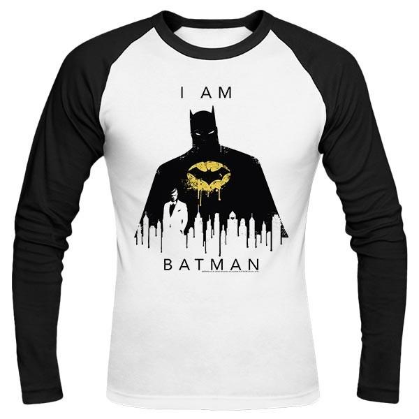 تیشرت آستین بلند رگلان I Am Batman Skyline