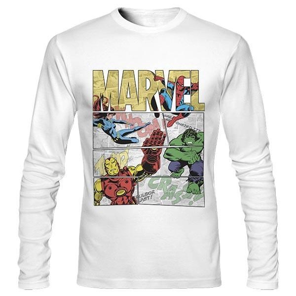 تیشرت آستین بلند Marvel Comics Retro Superheroes