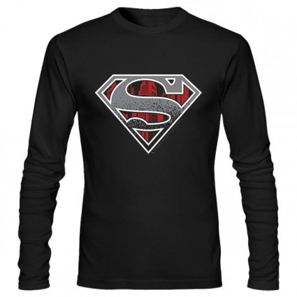 تیشرت آستین بلند Superman Concrete Logo