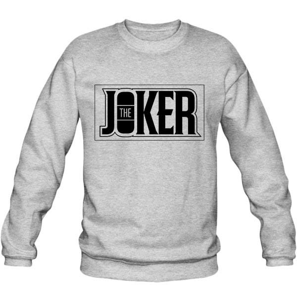 سویشرت ملانژ The Joker Typographic