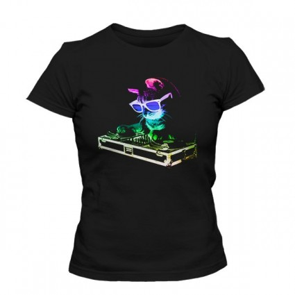 تیشرت دخترانه Rainbow DJ Kitty
