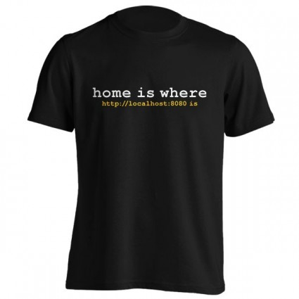 تیشرت HOME IS WHERE LOCALHOST IS