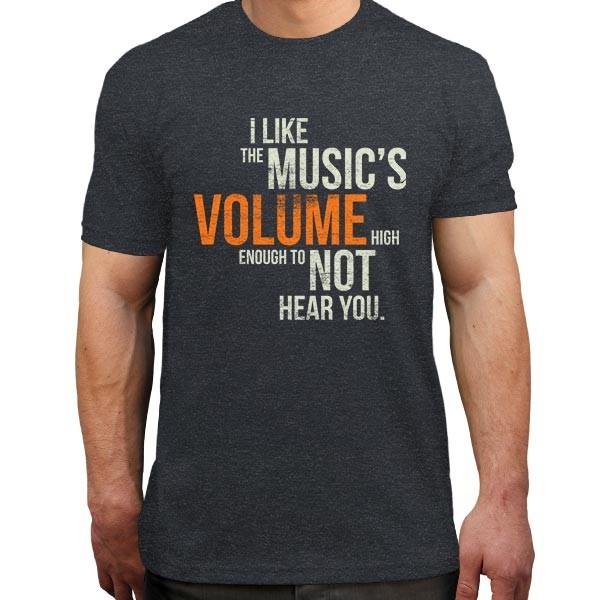 تیشرت ملانژ I like the music's volume high