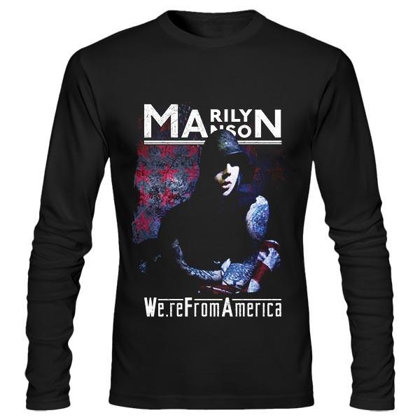 تی شرت آستین بلند Marilyn Manson Star Wall