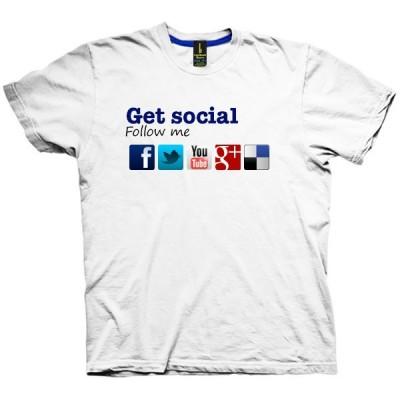 تیشرت اینترنتی طرح Get Social